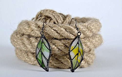 Stained Glass Handmade Earrings Made From Copper and Glass Jewelry Ideas
