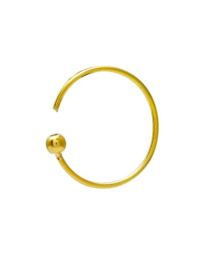 Buy Eloish Shiny Gold Metal Classic Simple Plain 14 Carat Ball Nose Ring At Amazon In