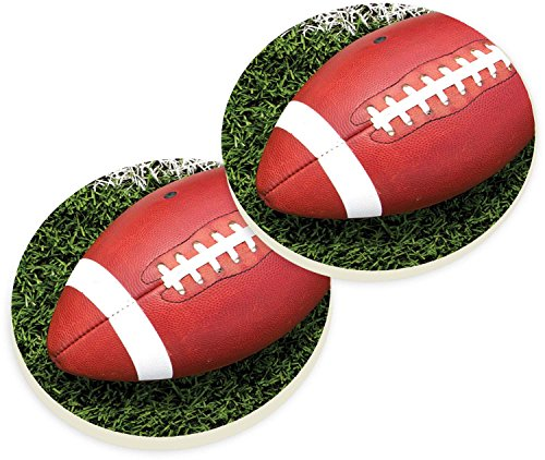 Football Game Field Ceramic Car Coaster Pack (Set of (Car Football Games)