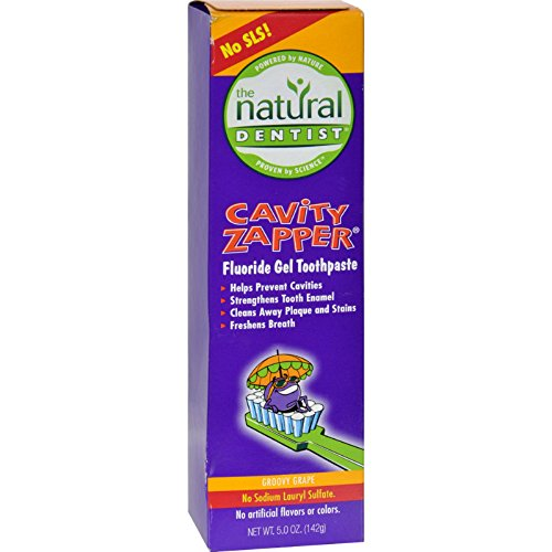 2Pack! Natural Dentist Kids Cavity Zapper Toothpaste Buster Groovy Grape - 5 oz