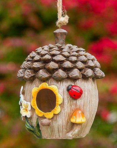 Acorn Cottage Decorative Hand-Painted Bird (Acorn Birdhouse)