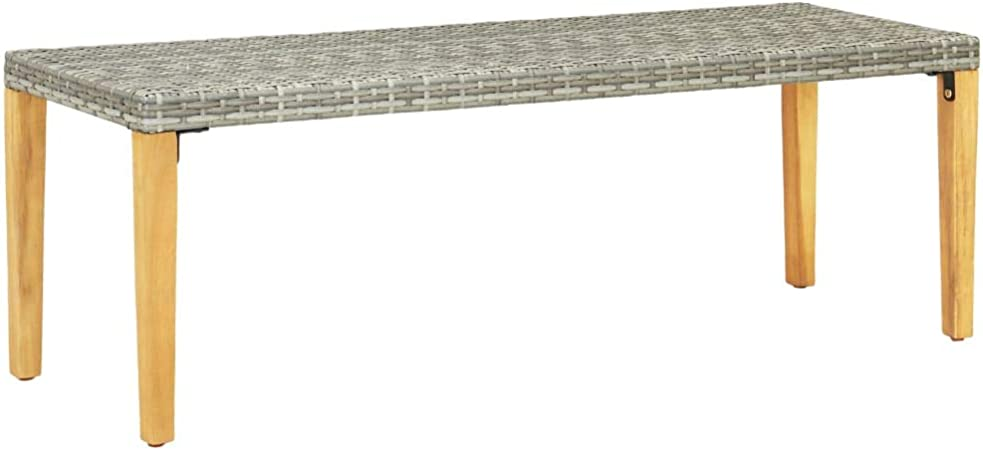 Panche Da Giardino In Resina.Vidaxl Panca Da Giardino 80 Cm In Resina Intrecciata Colore Grigio Amazon It Casa E Cucina