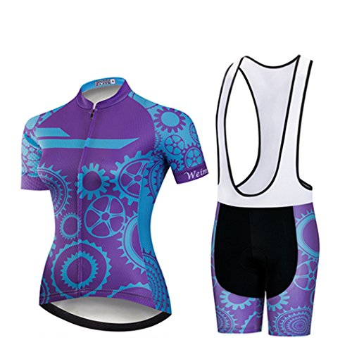 Women Cycling Jersey Summer Road Short Sleeve Padded Bicycle Clothing Sets