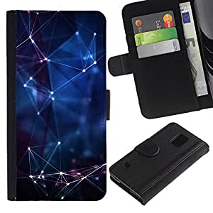 All Phone Most Case / Oferta Especial Cáscara Funda de cuero Monedero Cubierta de proteccion Caso / Wallet Case for Samsung Galaxy S5 V SM-G900 // Universe Laser Blue Night Horoscope