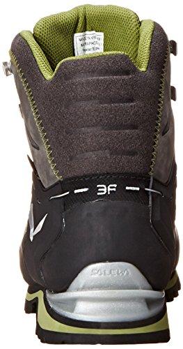 SALEWA MS RAPACE GTX - botas de senderismo de material sintético hombre Marrón  /  Negro   (Pewter / Emerald 4052)