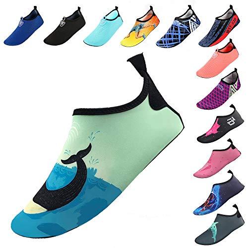Water Socks Swim Socks for Womens Mens Kids Quick-Dry Aqua Water Shoes Barefoot for Beach Pool Surf Yoga Exercise