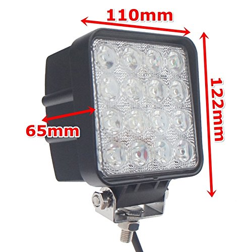 Pack-of-10-TMH-48w-Square-Shape-30-Degree-LED-Work-Light-Spot-Lamp-Driving-Light-Jeep-Off-road-4wd-4×4-Utv-Sand-Rail-Atv-Suv-Motorbike-Motorcycle-Bike-Dirt-Bike-Bus-Trailer-Truck
