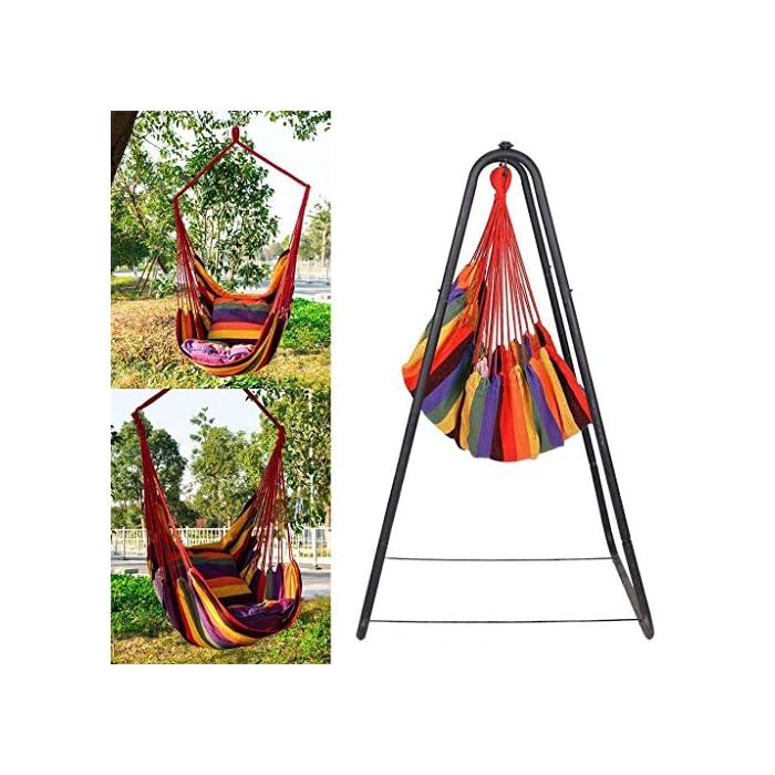 5168GVIBsPL Las hamacas portátiles para camping son extremadamente duraderas. Utilizada en materiales de alta durabilidad, esta hamaca puede alojar con seguridad a 1 adulto. Además, la hamaca portátil para acampar se siente suave y le permite dormir cómodamente en una hamaca portátil para acampar. Las hamacas portátiles para acampar son fáciles de instalar. Colgar una hamaca portátil para acampar en la rama principal de un árbol sólido con cuerdas, correas y mosquetón lleva menos de 3 minutos. La altura segura entre el columpio de la hamaca y el piso debe ser inferior a 50 cm. Las hamacas paracaídas se pueden utilizar para todo tipo de actividades, como acampar, caminar, viajar y retirarse. También es una excelente opción para tiendas de campaña, colchones, tapetes, columpios, cunas, etc. Por lo tanto, puede usar la hamaca paracaídas para relajarse en muchas actividades.