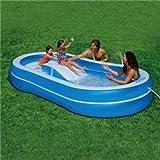 Slide N Spray Pool Intex Inflatable Wet Set with 4 Built in Sprinkler's