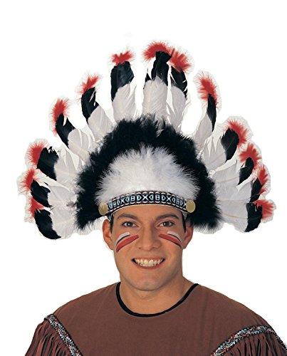 Chief Indian Headdress Costume (Rubie's Costume Co. Chief Headdress and Facepaint Costume Accessory Bundle)