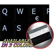 SPANISH NOTEBOOK NON-TRANSPARENT KEYBOARD STICKERS BLACK BACKGROUND