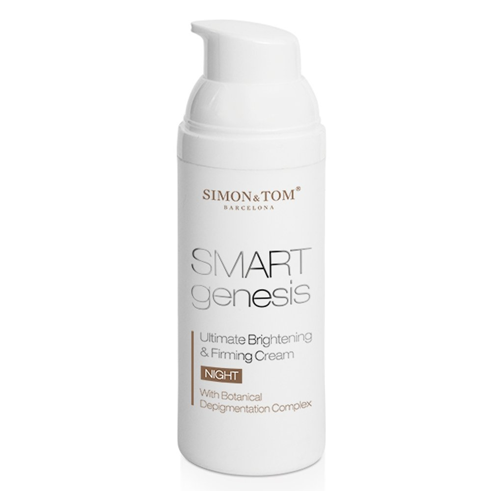 Simon & Tom Smart Genesis Ultimate Brightening & Firming Night Cream with Vitamins A, C & E - Reduces Dark Pigmented Spots on the Face 50ml. / 1.67 fl.oz.