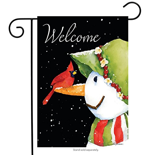 Briarwood Lane Cardinal Snowman Winter Garden Flag Welcome P