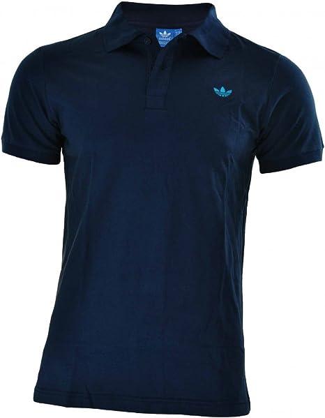 Adidas Adi polo pique hombres originales Trefoil Camisa polo Negro ...