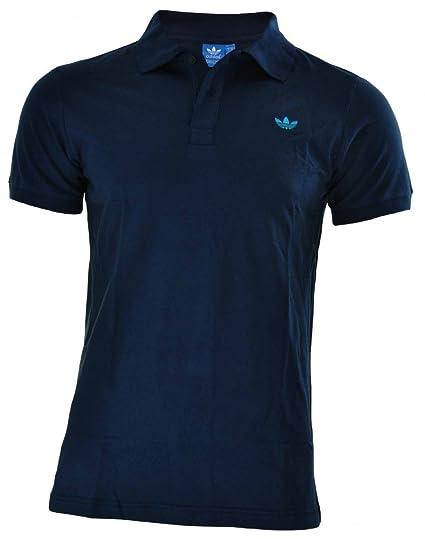 Adidas Adi polo pique hombres originales Trefoil Camisa polo Negro, Tamaño:S