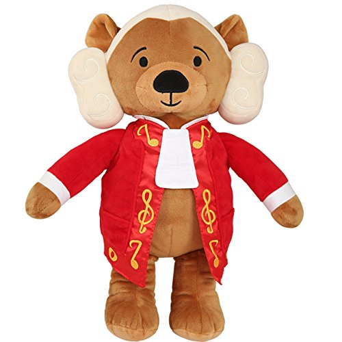 Vosego Amadeus Mozart Virtuoso Bear | 40 mins Classical Music for Babies | 15″ Award Winning Musical Soft Toy | Educational Toy for Infants Kids Adults