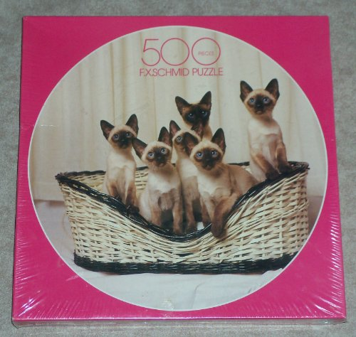Siamese Six Pack ~ 500 Piece ~ Round Jigsaw Puzzle