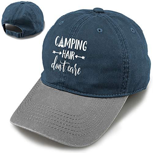 Splash Brothers Customized Unisex Camping Hair Don't Care Vintage Adjustable Baseball Cap Denim Dad Hat ¡