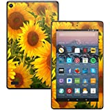 MightySkins Skin for Amazon Kindle Fire 7 (2017) - Sunflowers | Protective, Durable, and Unique Vinyl Decal wrap Cover | Easy to Apply, Remove, and Change Styles | Made in The USA
