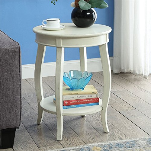 (Acme Furniture 82785 Aberta Side Table, Antique White, One)