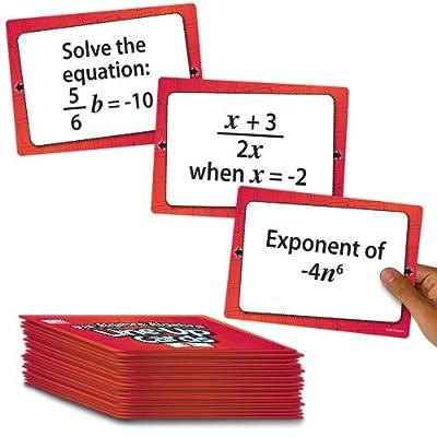 EAI Education Pre-Algebra/Algebra Line-Up Cards: Grade 7+: Toys & Games