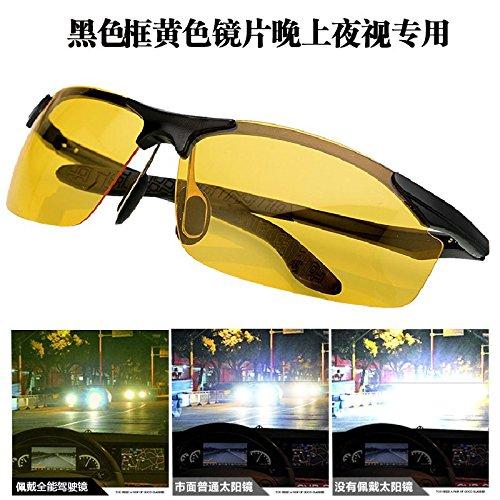 de gafas conductor Polarizador sol KOMNY de de de Yellow día masculinos box noche conductor Black femeninos Gafas espejo Gafas y de de sol y amarillo Gafas Box Black nocturna sol visión dzwwRqvx0