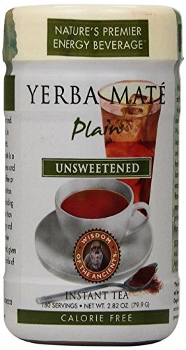 Wisdom Natural Instant Yerba Mate Tea Unsweetened - 2.82 Oz - Pack Of 1 (Mate Plain Yerba)