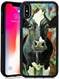 iPhone X/iPhone 10 Phone Case, ZhonghuiTrade Slim Anti-Scratch Cattle TPU PC Protective Shockproof Black Full Cover For iPhone X 5.8 inch/iPhone 10 5.8 inch For Sale