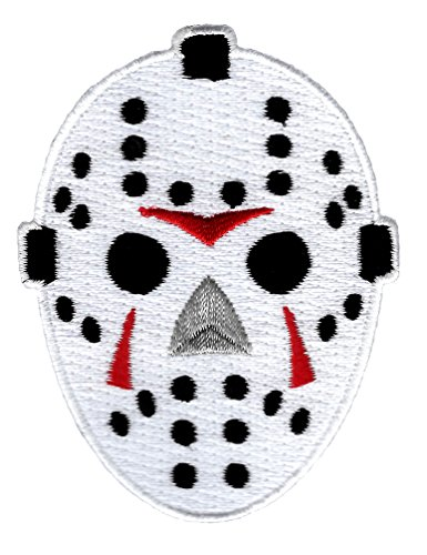 (Hockey Goalie Mask Embroidered Patch Iron-On Friday the 13th Jason)