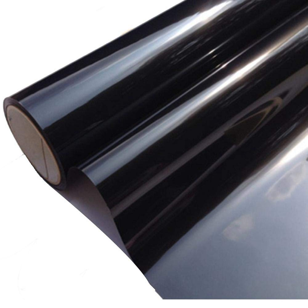 S`good Pellicola finestre,50Cmx3M 5/% VLT Nero Scuro Finestrino per Auto Pellicola per Vetri Pellicola per Auto Auto Commerciale Pellicola Decorativa per Pellicole Solari