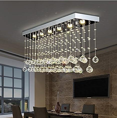 Moooni Rectangular Crystal Chandelier Lighting Modern ...
