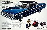 1966 Ad Vintage Plymouth VIP Hardtop Coupe Dark