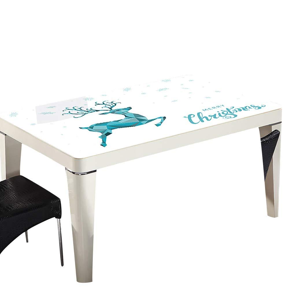 テーブルクロスソフトガラスPVC 90x140cm防水アンチホットアンチオイル簡単クリーンテーブルプロテクターコーヒーティーテーブルマットプラスチックテーブルクロス (サイズ さいず : 90x150cm) 90x150cm  B07S3T13HG