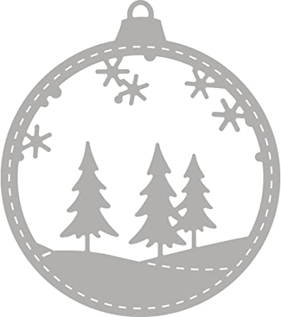 Pochoir Rayher   Boule de Noël   Diverses   Gris, 1,7 x 1 x 0,02