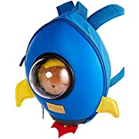 3D Rocket Fun Kids backpack for 2-6Y toddlers preschool boys and girls by Super Cute