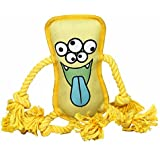 Durable Dog Toy by Mr. Monster Pup Toy Kenzie the Kraken | Rope dog toy & plush squeak toy hybrid