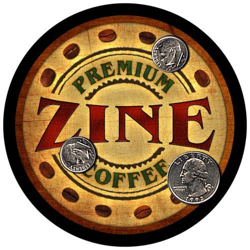 Zine Family Name Coffee Rubber Drink Coasters - 4 pcs -