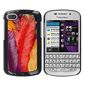 Paccase / SLIM PC / Aliminium Casa Carcasa Funda Case Cover para - Colors Red Yellow Violet - BlackBerry Q10
