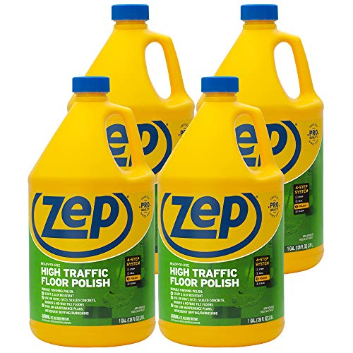 Zep High Traffic Floor Polish 128 Ounce ZUHTFF128 (Case of 4)