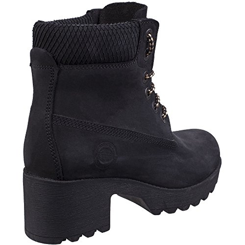 Pine Womens Darkwood Black Leather Boots Ladies Hiking zatqtwC