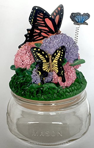 Butterfly Hydrangea Garden Candle or Jar Topper Lid
