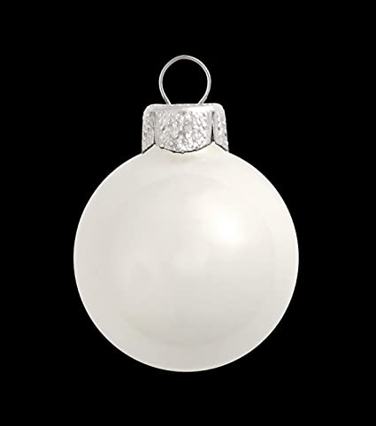 40ct Shiny White Glass Ball Christmas Ornaments 1 5 40mm
