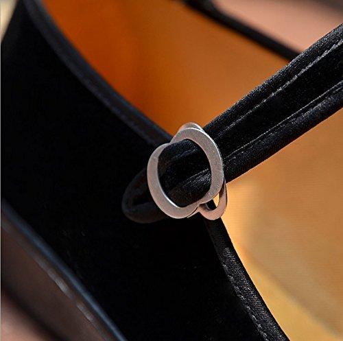 S&L Mary Jane - Merceditas de Terciopelo para mujer: Amazon.es: Zapatos y complementos