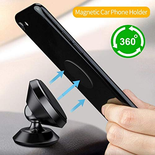 - TRUE LINE Automotive Car Magnet Phone Dashboard Mounted Holder 360 Degree Mounting Kit (Black)