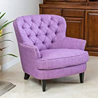 Christopher Knight Home 296539 Tafton Tufted Fabric Club Chair, Light Purple