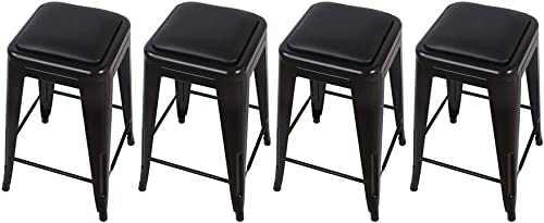 GIA TOOLIX_4BK_PU 24-Inch Counter-Height Backless Stool