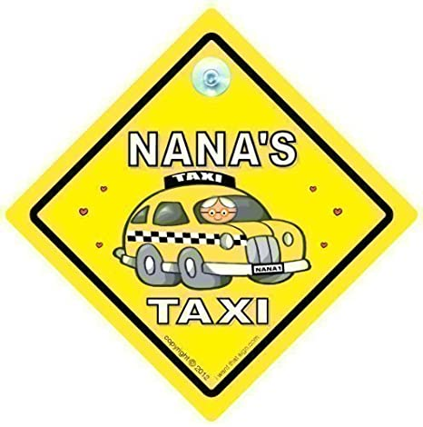 Nana Taxi con texto en inglés de coche, Nana Taxi, Nana Taxi ...