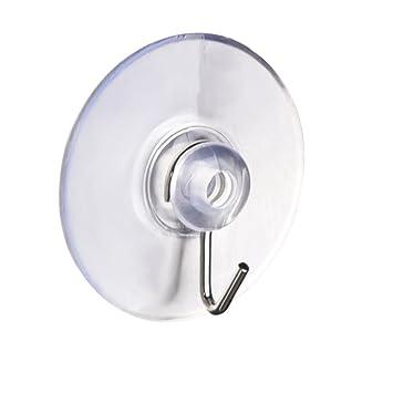 ideal f/ür Badezimmer K/üche als Wandhaken Aufh/änger mit Saugnapf und Metallhaken 10 x DIYexpert Saughaken /Ø 20mm auf Glas Spiegel Fliesen