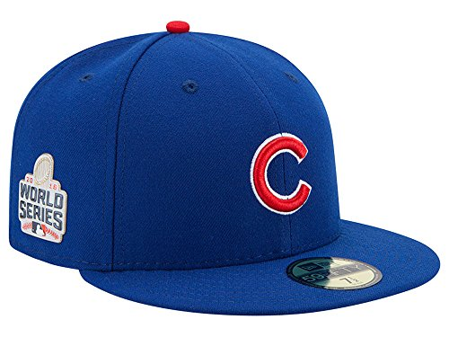 Free Chicago Cubs New Era 59Fifty 2016 WORLD SERIES Patch Fitted Hat Cap