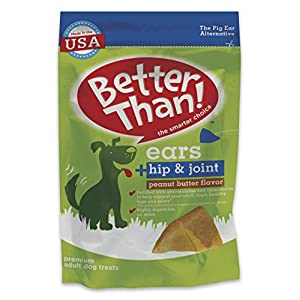 Better Than Ears Premium Dog Treats, Hip & Joint Peanut Butter Flavor, 36 Count Pouch 54